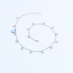 PEARL ANKLET SILVER