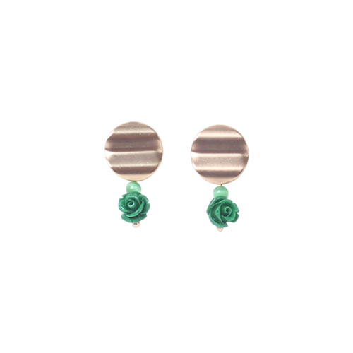 ACROBAT X ORI EARRINGS GREEN GARDEN